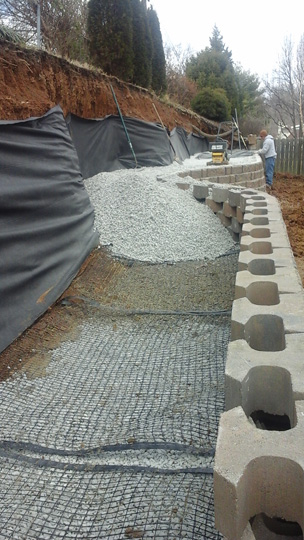 Double Tier Rockwood Retaining Wall