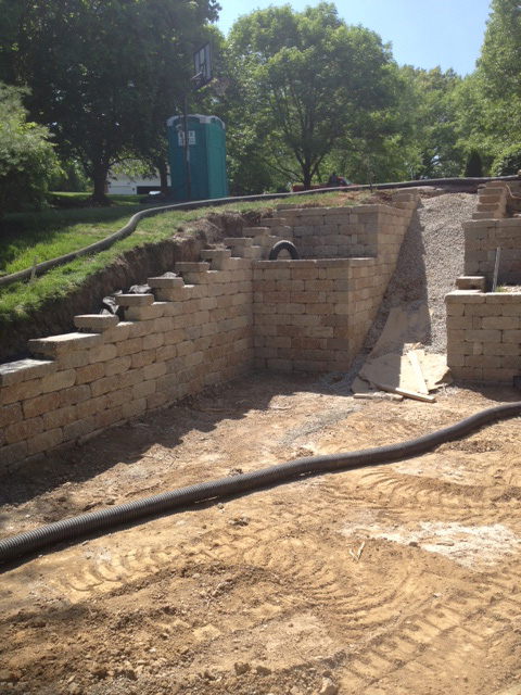 Pool Landscaping Retaining Wall
